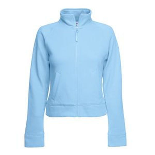 Толстовка Lady-Fit Sweat Jacket, небесно-голубой_XS, 75% х/б, 25% п/э, 280 г/м2